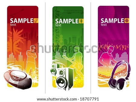 Urban music style - stock vector