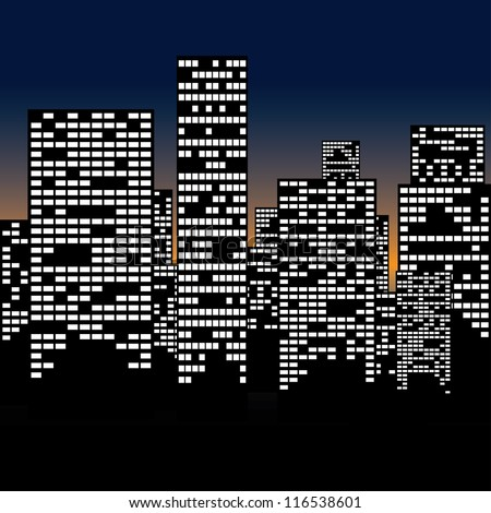 urban night landscape. EPS 8 - stock vector