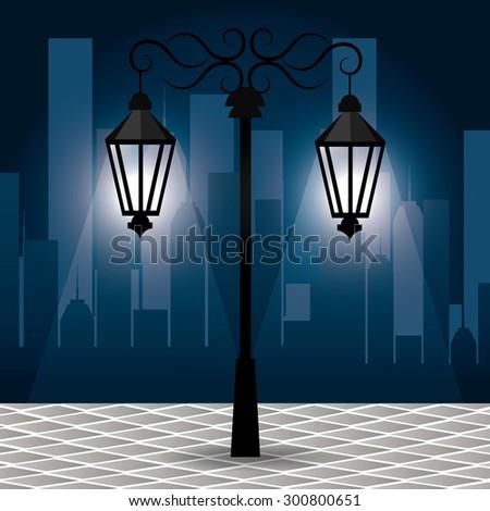 Urban park design, vector illustration eps 10. - stock vector
