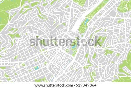 Urban Vector City Map Stuttgart Germany Stock Vector 2018