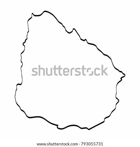 Uruguay Outline Stock Images RoyaltyFree Images Vectors - Uruguay blank map