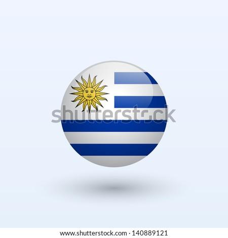 Uruguay round flag. Vector illustration. - stock vector