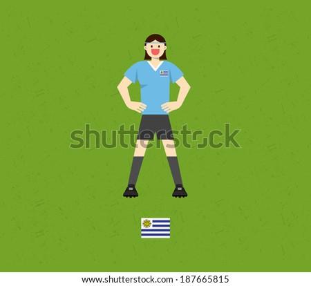 Uruguay Soccer Tables - stock vector