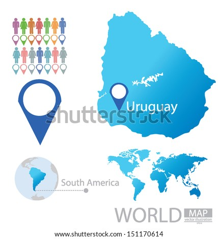 Uruguay south america world map vector vectores en stock 151170614 uruguay south america world map vector illustration gumiabroncs Images