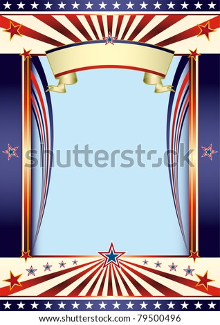 US Cool background. A background for your american poster. - stock vector