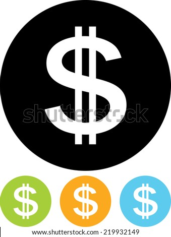 US Dollar currency finance symbol - stock vector