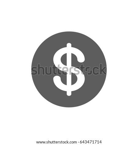 Us Dollar Currency Icon Trendy Flat Stock Vector 643471714