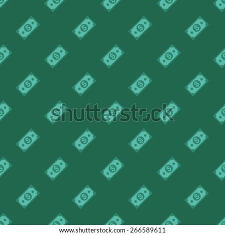 US dollars pattern - stock vector