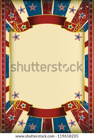US grunge frame. Dirty american background with a large frame for your message - stock vector