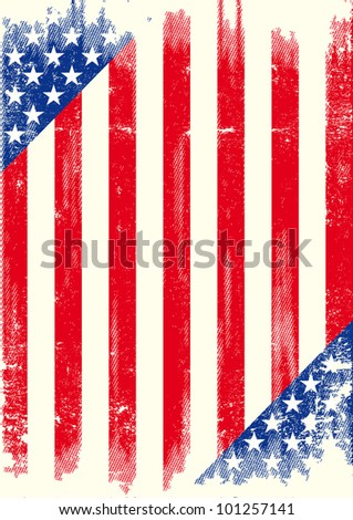 US grunge poster. American grunge poster for you, enjoy ! - stock vector