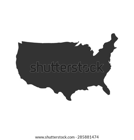 Us Logo Us Icon Us Symbol Stock Vector Shutterstock - Us vector map