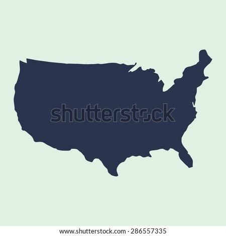 us map. blue USA map. US icon. template. - stock vector