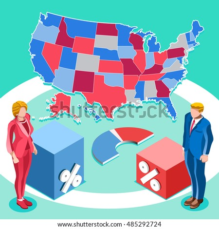 us map election infographic democrat republican stock vector 485292724 shutterstock