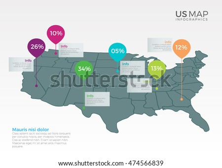 Infographic Map Stock Images RoyaltyFree Images Vectors - Create us map infographic