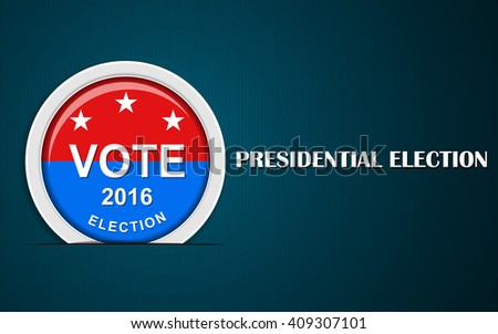 US presidential election 2016 - stock vector