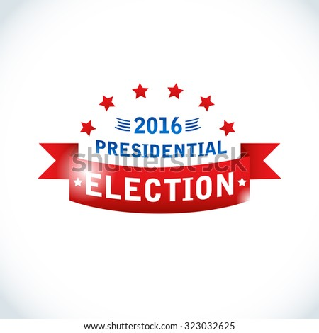 US Presidential election 2016. American president. Vector Illustration, eps10, contains transparencies. - stock vector