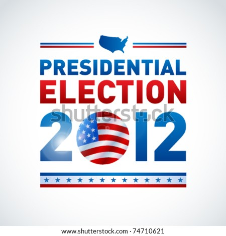 US presidential election in 2012 - stock vector