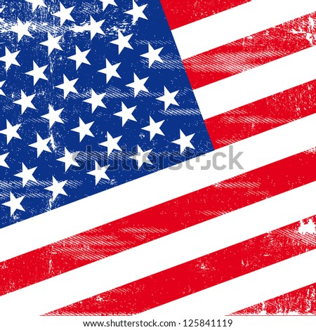 US square grunge flag. An american grunge flag for  you - stock vector