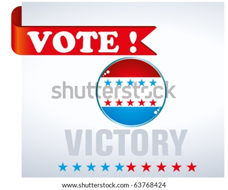 us vote - stock vector