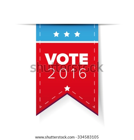 US Vote ribbon vector - stock vector