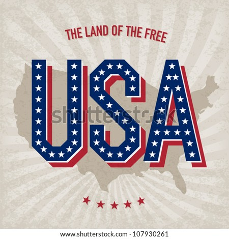USA abstract poster design, vector, EPS10 - stock vector