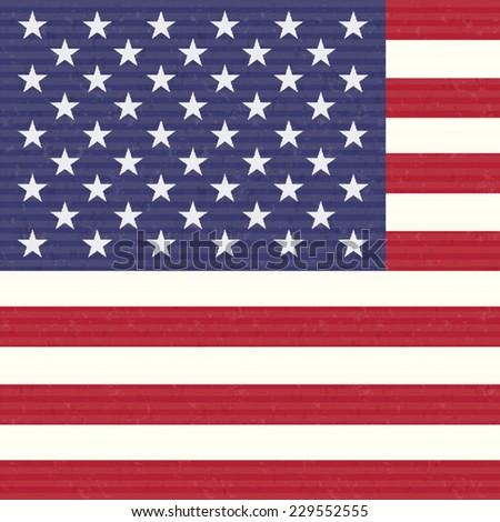 USA America Flag - stock vector