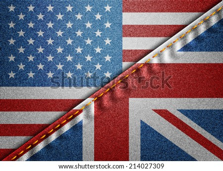 USA and Great Britain - stock vector