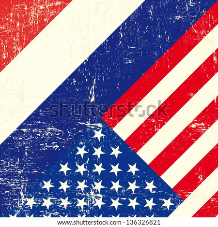 USA and netherlands grunge Flag. this flag represents the relationship  between netherlands and the USA