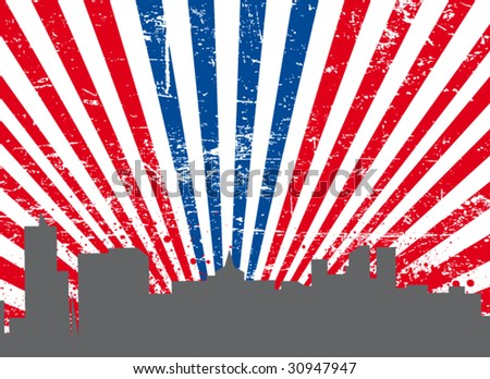 usa background #3 - stock vector