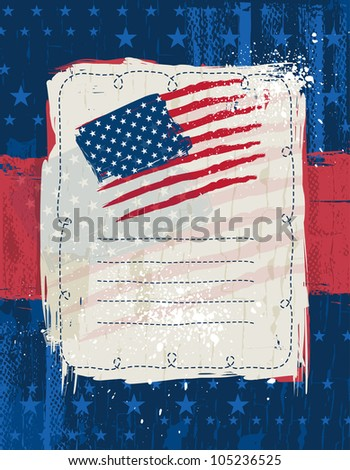 usa background with one decorative label, vector illustration EPS10. Contains transparent objects - stock vector
