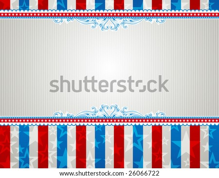 usa background with stars and  decorative frames - stock vector