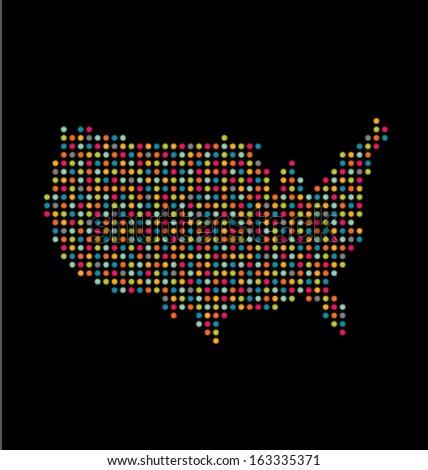 Us Map Dots Stock Images RoyaltyFree Images Vectors Shutterstock - Us map dot