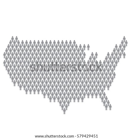 Usa country map made people icon stock vector 579429451 shutterstock usa country map made up of people icon sciox Choice Image