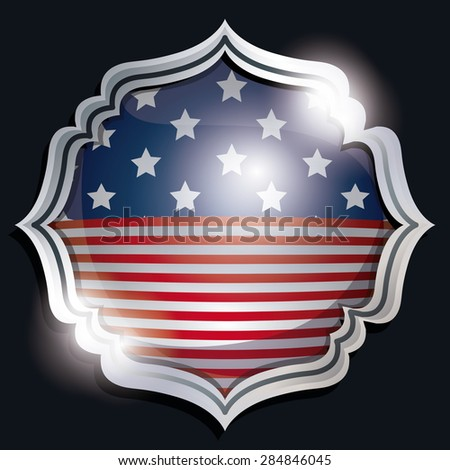 USA design over black background, vector illustration