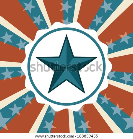 USA design over stripes background, vector illustration