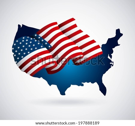 USA design over white background, vector illustration - stock vector