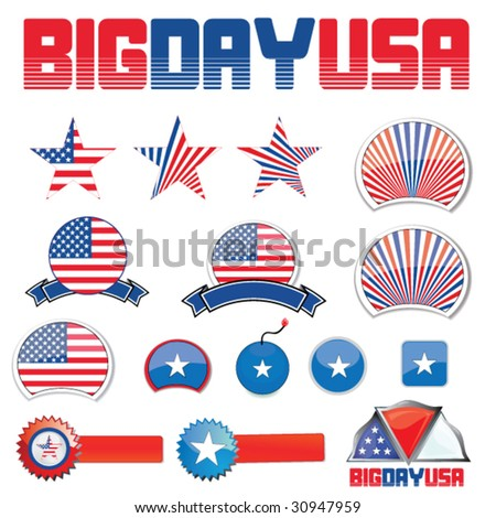 usa design set - stock vector