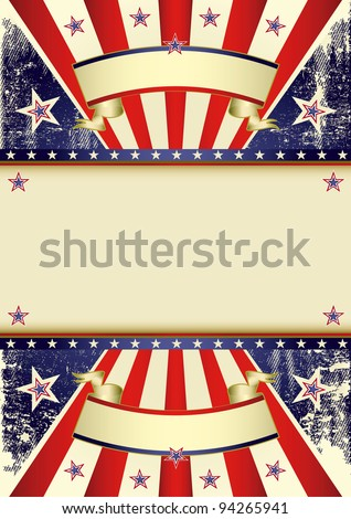 USA distressed flag. A patriotic background with a frame for your message.