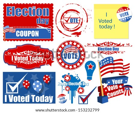 USA Election Day Holiday Graphics Vector Set