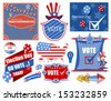 USA Election Day Vector Illustration Set - stock vector
