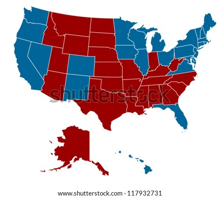 USA election 2012 in vector art - stock vector