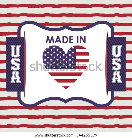 usa emblematic seal design, vector illustration eps10 graphic  - stock vector