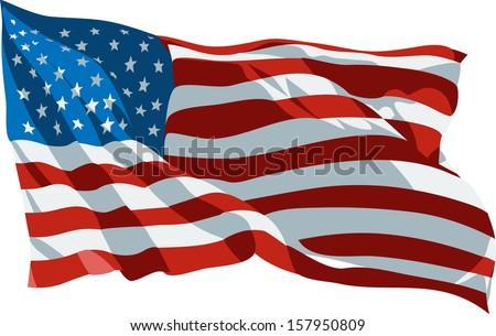 Usa Flag - stock vector