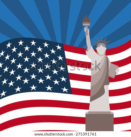 usa flag design, vector illustration eps10 graphic