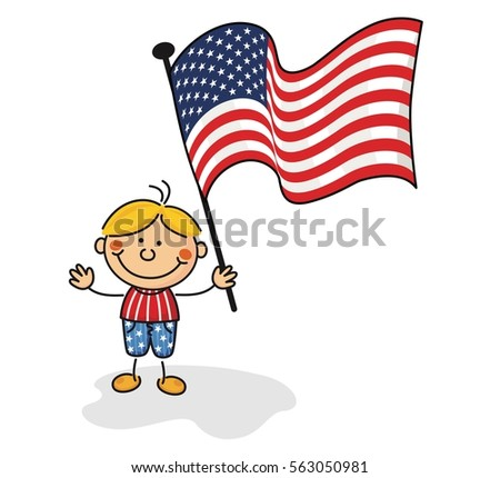 stock-vector-usa-flag-kids-collection-56