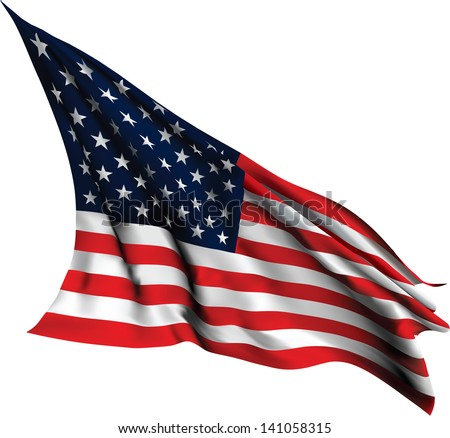 USA Flag - Old Glory flag EPS10 VECTOR - stock vector