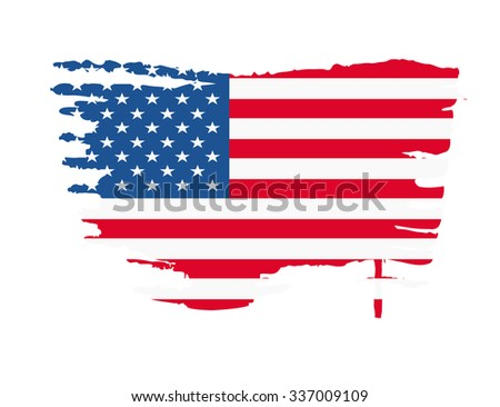 USA flag splash vector illustration - stock vector