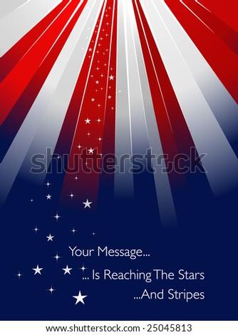 USA flag style sunburst - stock vector