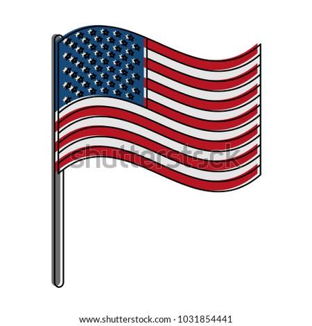 Usa Flag Symbol Stock Vector 1031854441 Shutterstock