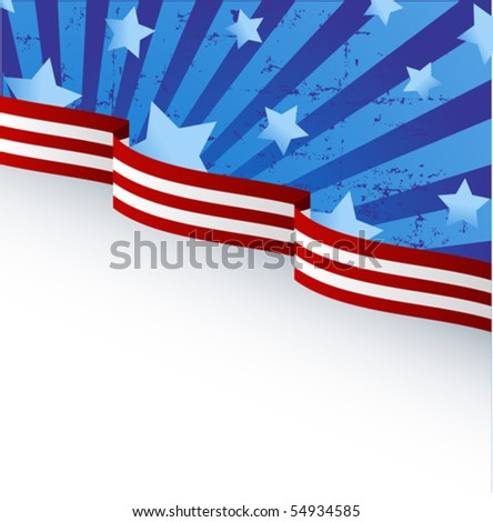 USA flag theme background with place for your copy\text - stock vector